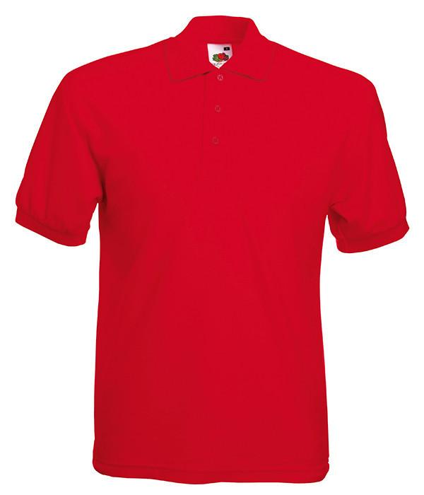 Мужская футболка поло 65/35 58, 58, Красный