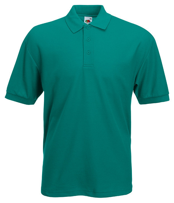 Мужская футболка поло 65/35 58, 58, Изумрудный
