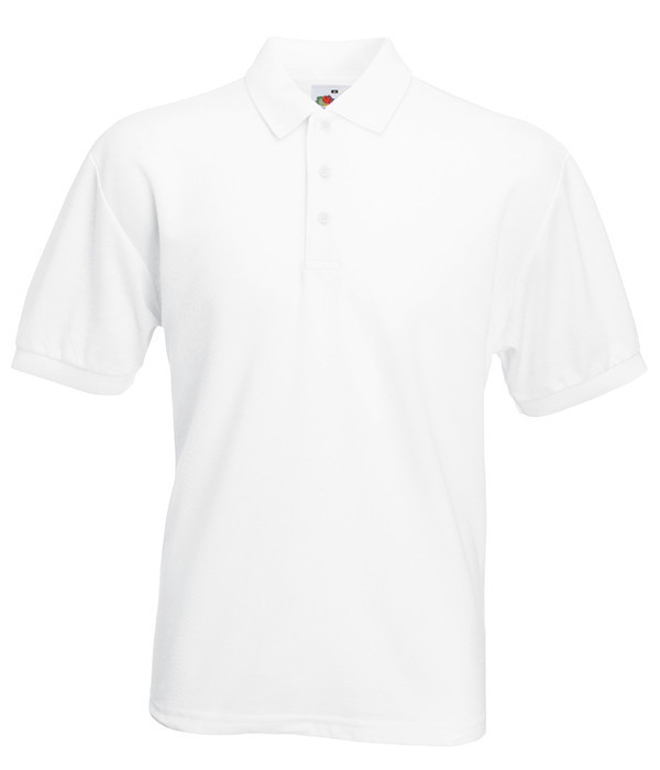 Мужская футболка поло 65/35 62, Белый