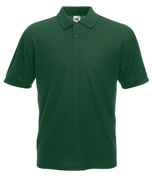 Мужская футболка поло 65/35 4XL Темно-Зеленый
