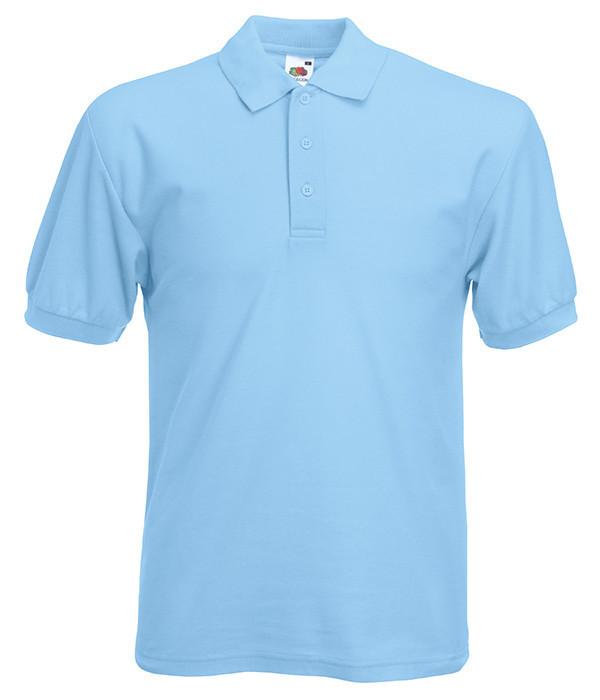 Мужская футболка поло 65/35 5XL Небесно-Голубой