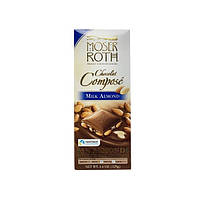 Шоколад молочный с миндалем  Moser Roth Milk Almond , 33% , 125 г