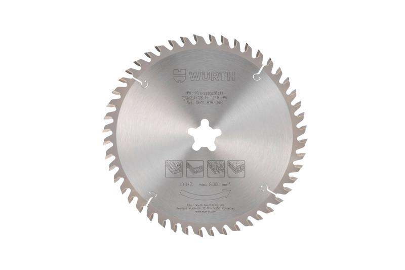 Пильный диск по дереву WURTH 0611819048