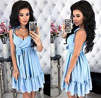 Женское платье из летней костюмки