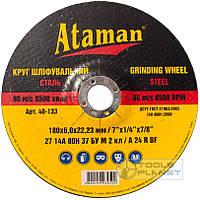 Круг зачистной по металлу Ataman 180 х 6,0 х 22.2 чашка, фото 1