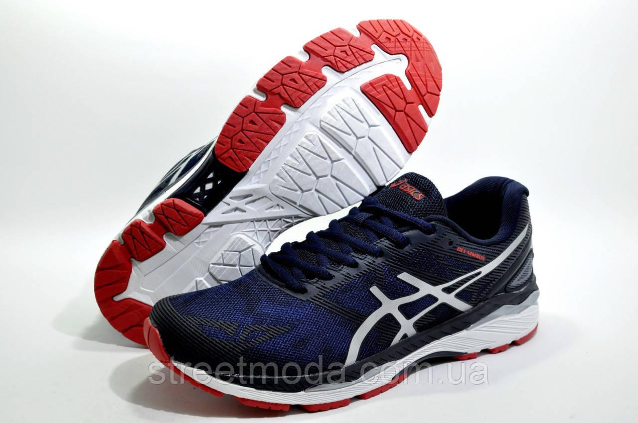 6ce0dd64 Мужские беговые кроссовки в стиле Asics Nimbus 20, Синий/Белый -  Интернет-магазин