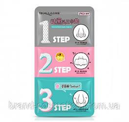 Очищающие полоски для носа BIOAQUA 3 Step Green