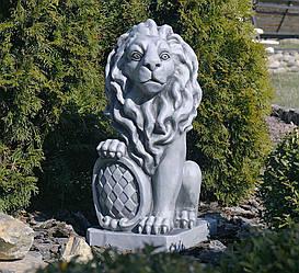 Садовая  скульптура Лев 35.5×28.5×62.5cm
