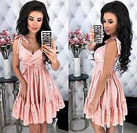 Красивое женское платье из летней костюмки с цветочным принтом 42 - 48 рр