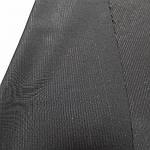 Черная костюмная ткань с ниткой с отливом лоскут  140смХ80 см, фото 3