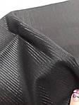 Черная костюмная ткань с ниткой с отливом лоскут  140смХ80 см, фото 2