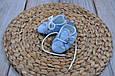 Пинетки хлопковые, Горох на голубом, фото 5