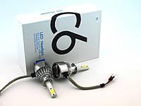 LED C6 H1 COB 6500k 3800Lm 35w 12v-24v, светодиодные автомобильные лампы основного света