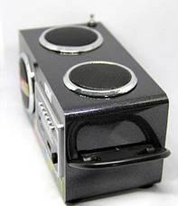 Акустика 6W Opera OP-8707 USB 220V, MP3 SD USB FM AUX черная, фото 2