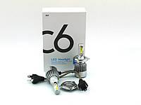 LED C6 H4 H L COB 6500k 3800Lm 2*35w 12v-24v, светодиодные автомобильные лампы основного света