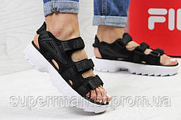 Женские сандалии  Fila, черные  Топ реплика ААА+  5301, фото 2