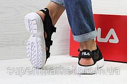 Женские сандалии  Fila, черные  Топ реплика ААА+  5301, фото 3