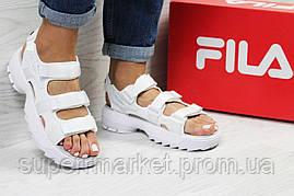 Женские сандалии  Fila, белые (Топ реплика ААА+) 5303, фото 3
