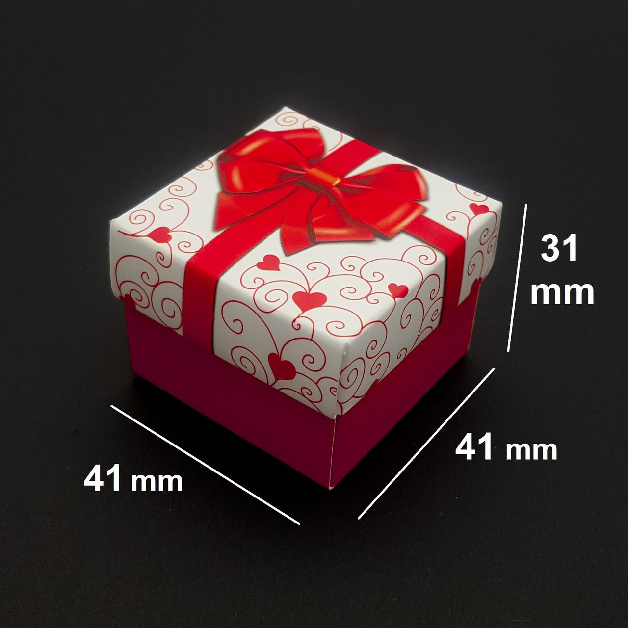 Подарочная коробочка для бижутерии, красная с узором