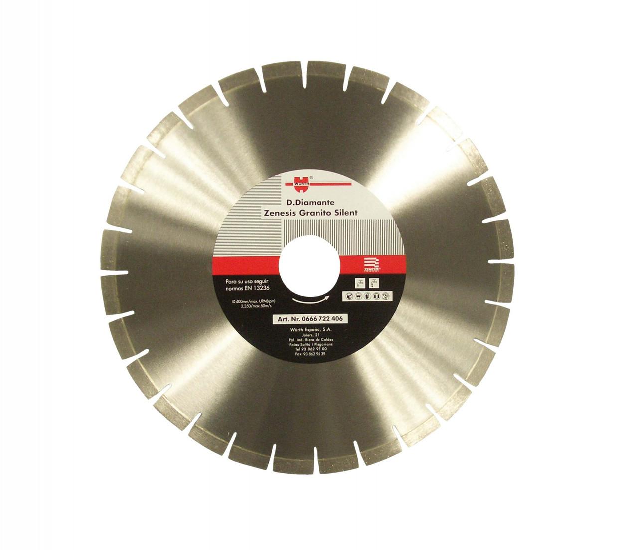 Алмазный отрезной диск WURTH 400 мм 0666722406