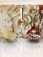 Фотошторы WallDeco Бумажные розы (27953_4_ 2)