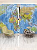 Фотошторы WallDeco Карта мира (29413_4_ 2)