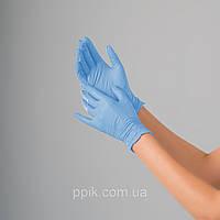 Перчатки нитриловые небесно-голубые 100 шт
