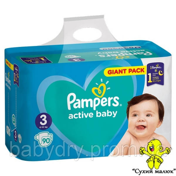 Pampers Active Baby 3 (90шт) 6-10кг  - CM00053