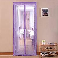 Антимоскитная сетка шторка на магнитах 90х210 см 81907 Фиолетовый