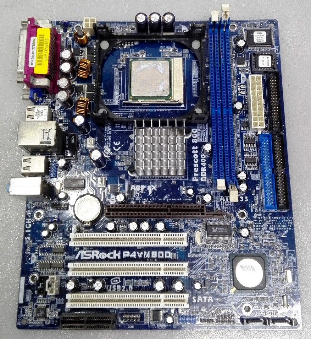 Материнская плата ASRock P4VM800 Socket 478
