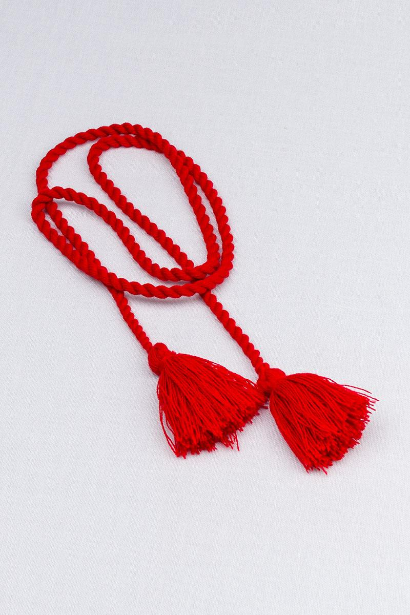 Шнурок с кисточками для вышиванки (красный)