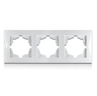 Рамка трехместная бела Erste electric Triumph