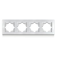 Рамка четырехместная белая Erste electric Triumph