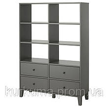 IKEA BRYGGJA Шкаф, темно-серый  (904.219.11)