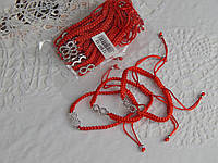 Красивый браслет оберег  красная нить со знаком бессконечности, фото 1