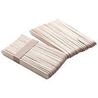 ШПАТЕЛИ деревянные для косметических процедур одноразовые 100 шт. в упаковке (Широкие)