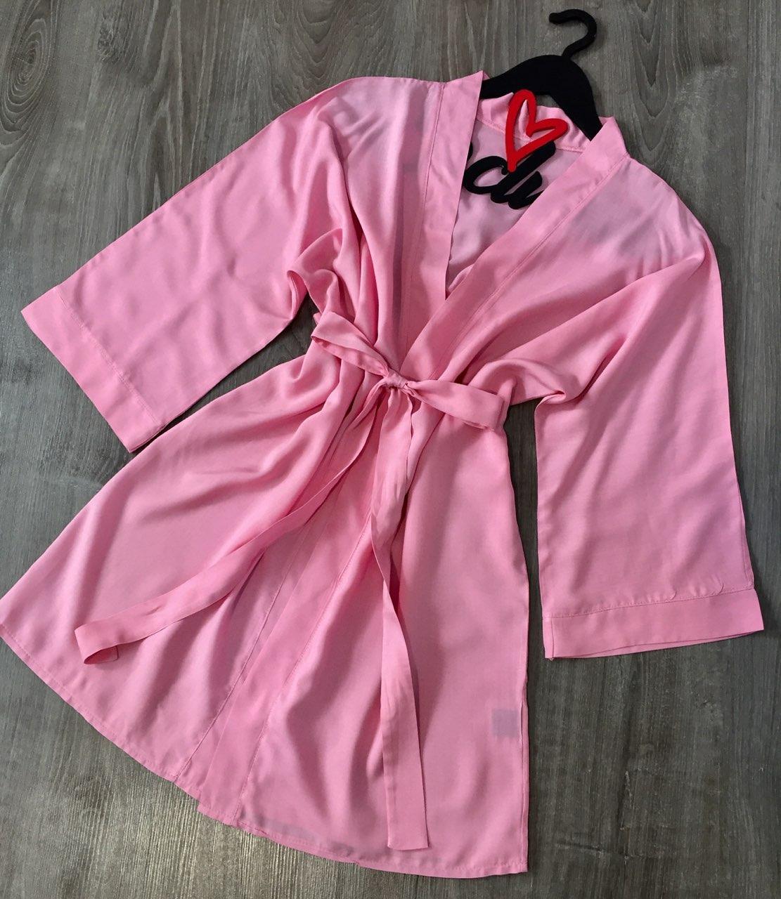 Хлопковый халат для дома 047-розовый.