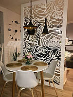 """Интерьерная перегородка """"Цветы"""", декоративные панели, деревянные ширмы, резные экраны, фото 1"""
