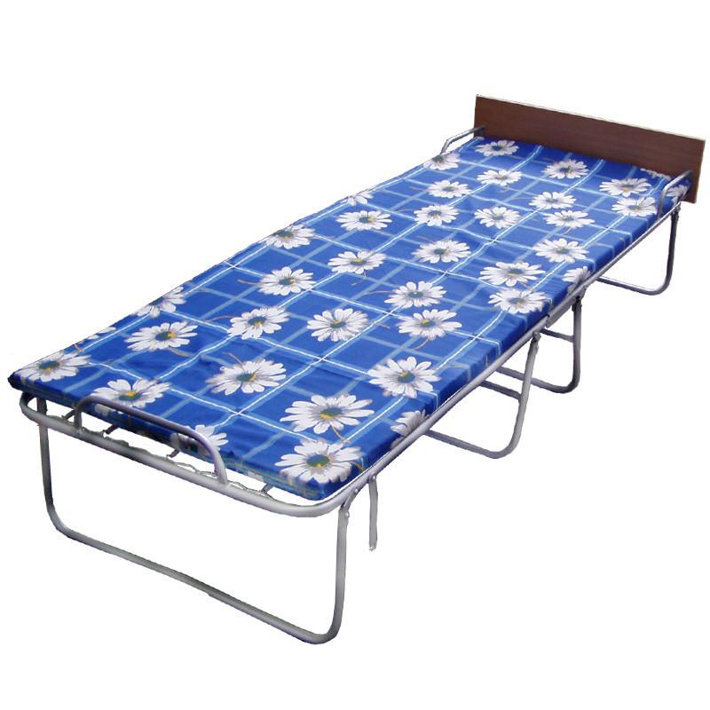 Раскладная кровать на панцирной сетке с поролоновым матрасом Лебедь «Комфорт-П»