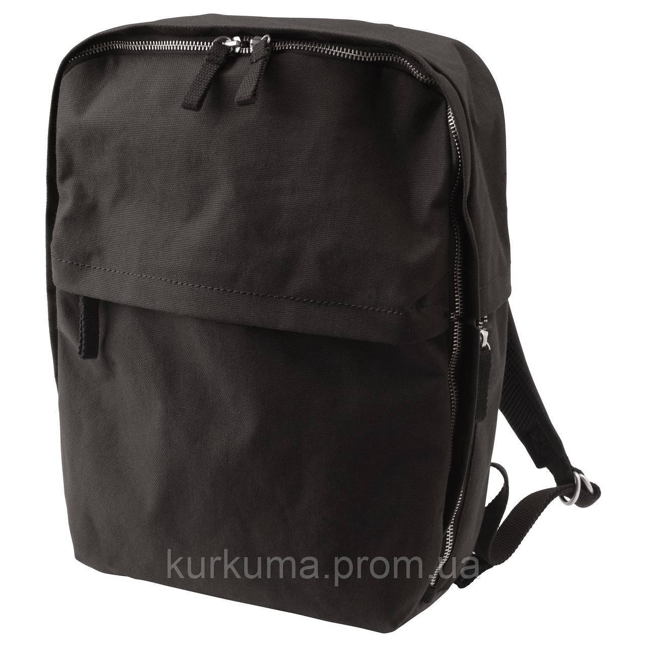 IKEA FORENKLA Рюкзак, черный  (703.135.64)