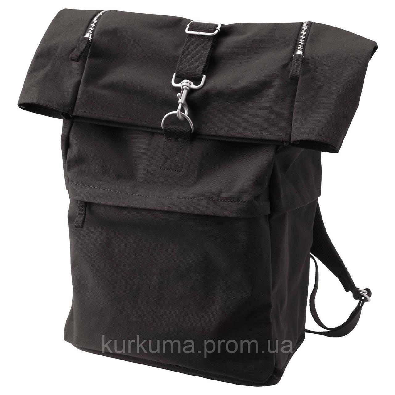 IKEA FORENKLA Рюкзак, черный  (003.135.72)