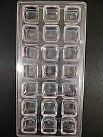 Форма для конфет поликарбонатная Квадрат классический, фото 1