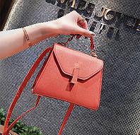 Червона маленька сумочка на ремінці, фото 1