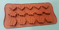 Форма силиконовая для конфет Новогодний набор 3