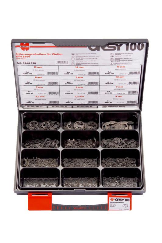 Набор стопорных шайб для валов, DIN 6799 комплект ORSY 100 Wurth