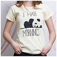 Женская футболка стильнаяс спринтом, молочная