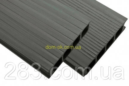 Террасная доска HOLZDORF 149х35х3000 мм, Импрэс графит