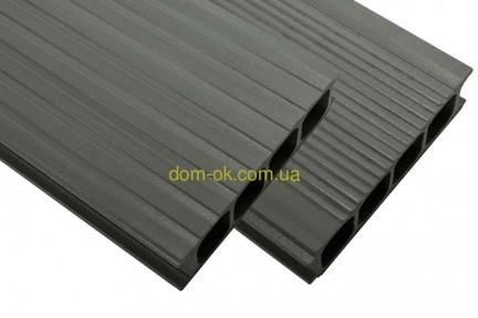 Террасная доска HOLZDORF 149х35х3000 мм, Импрэс графит, фото 1