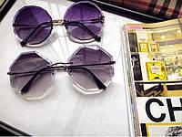 Солнцезащитные очки шестигранные фиолетовые