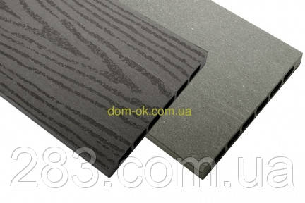 Доска из ДПК  HOLZDORF для высоких грядок 160х19x3000 мм Импрэс/Браш графит